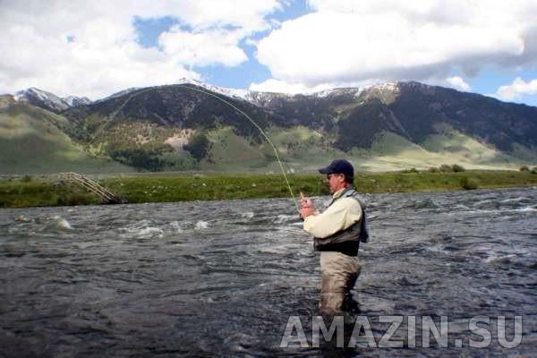Рыбалка с эхолотом на горной речке