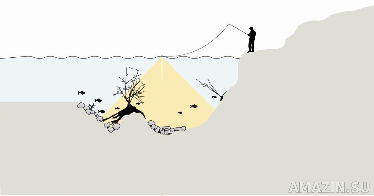 Принцип действия беспроводного эхолота для рыбалки